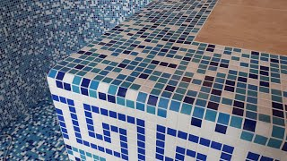 Как сделать отделку бассейна мозаикой своими руками без ошибок! +7 (926) 224-71-44