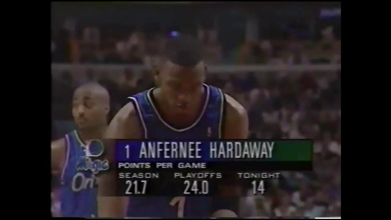 new concept ca4ba eb780 Penny Hardaway 18 Points 3 Ast @ Chicago Bulls, 1996 Playoffs Game 2.
