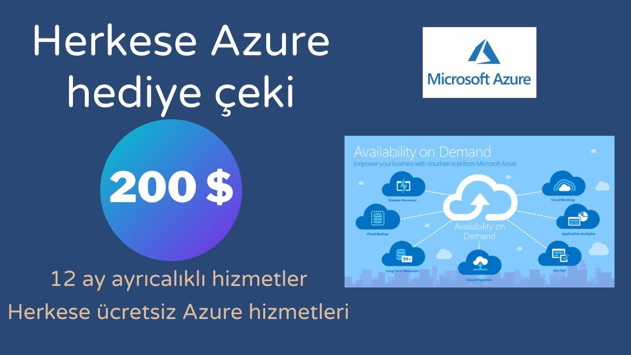 Ücretsiz Azure Hesabı | 1440 TL | 200$ | Free Azure Account