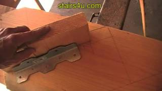 Adjusting Angle Brackets - Stair Stringer Lay Out