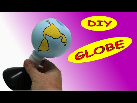 How to Make an Earth Globe  out of Plastic Bottles | Art and Craft Ideas