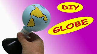 These #artandcraft ideas are about how to make earth globe out of# ...
