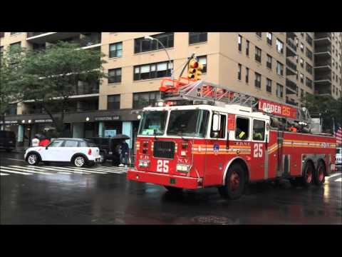 FDNY RESPONDING COMPILATION 40 FULL OF BLAZING SIRENS & LOUD AIR HORNS THROUGHOUT NEW YORK CITY.