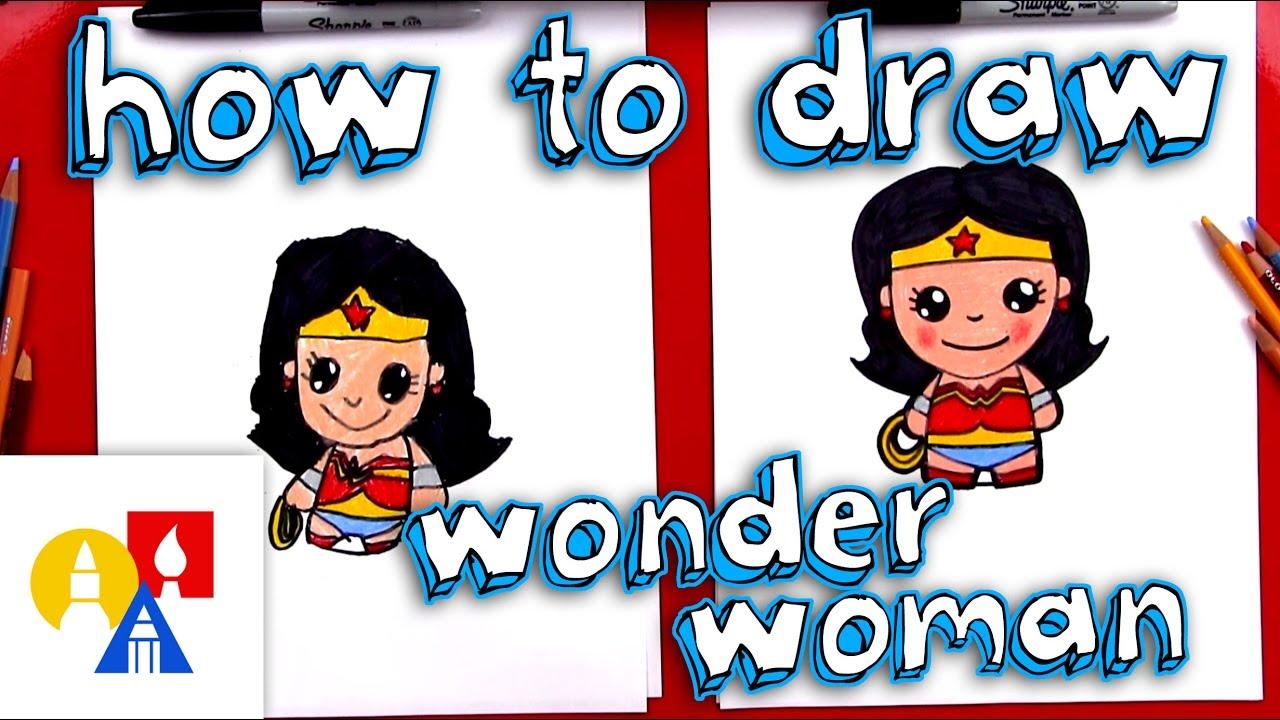 how to draw cartoon wonder woman youtube