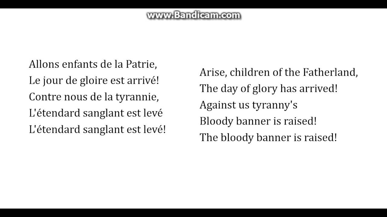 french national anthem lyrics pdf
