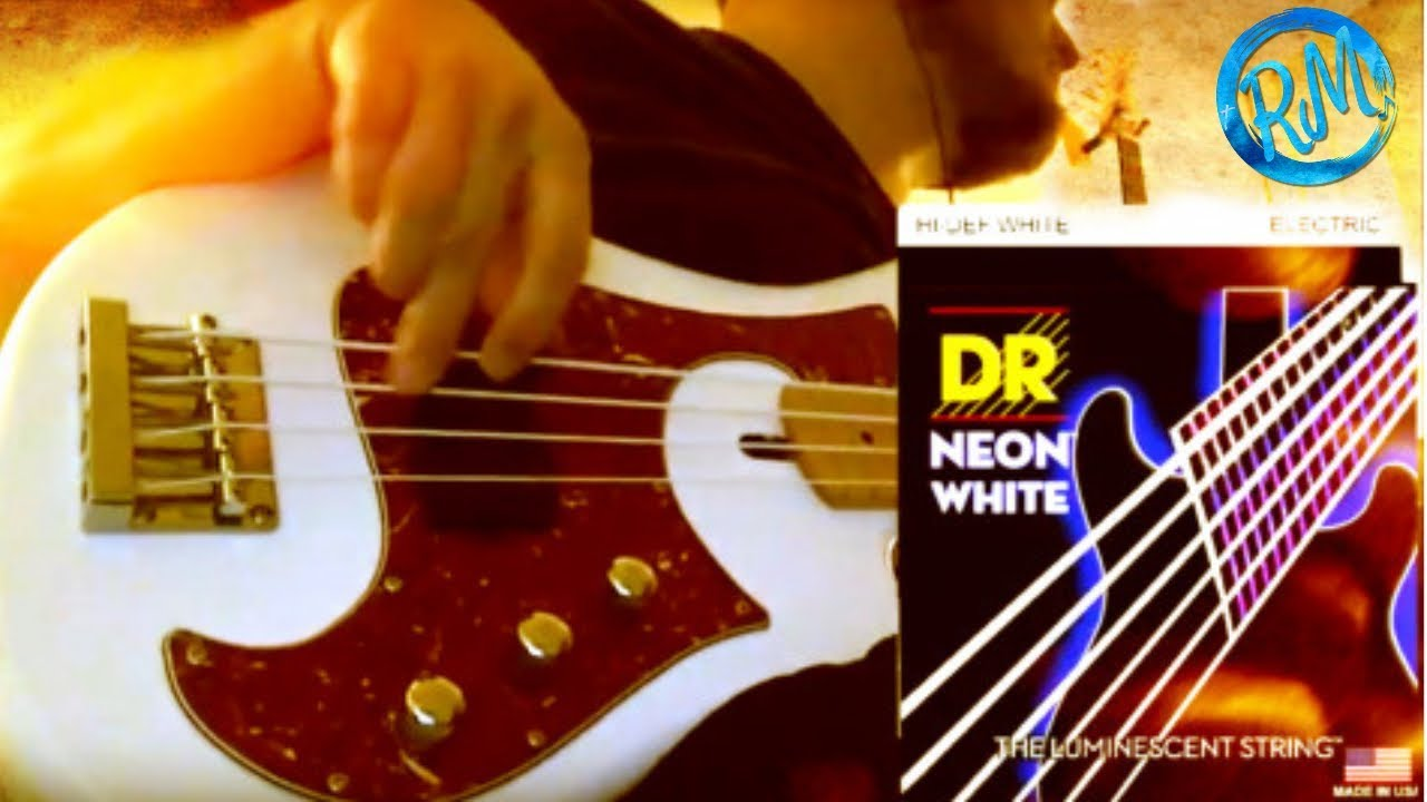 Dr Neon White Electric Bass Strings Youtube