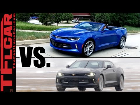 2016 Chevy Camaro Convertible vs Coupe Mashup Review Which is