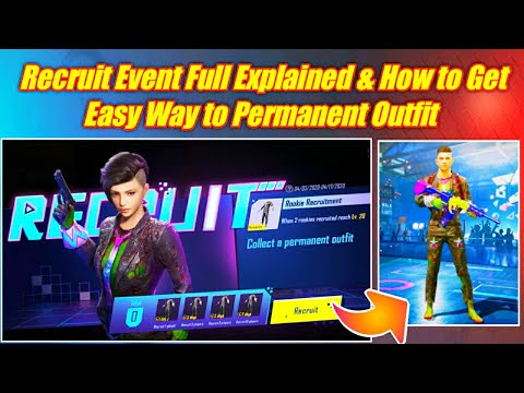 Pubg Mobile Recruit Event Explained | Very Easy Way to Get Permanent Outfit Of Recruitment Event