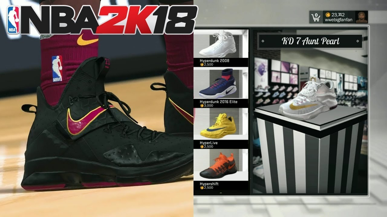 NBA 2K18 - BRAND NEW SHOES GAMEPLAY TRAILER #KICKSMATTER (LeBRON's, KD's,  NIKE+MORE!!!)