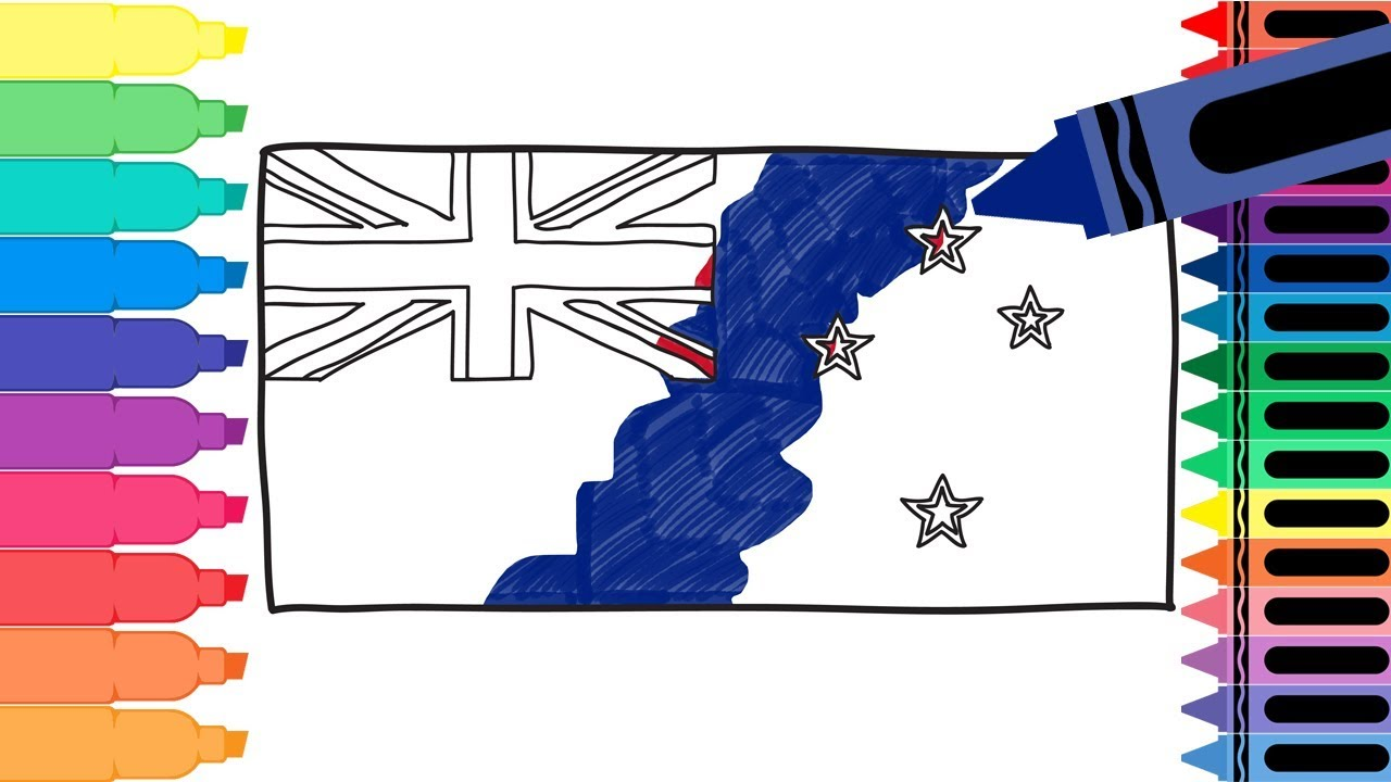 how to draw new zealand flag draw the flag of new zealand