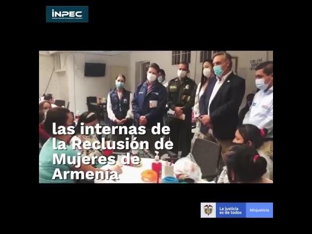 Ministro de Justicia y director del INPEC de visita en Cárcel Villa Cristina de Armenia