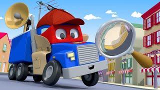 Детские мультфильмы с грузовиками - Грузовик ДЕТЕКТИВ в поисках АВТОБУСА Лили