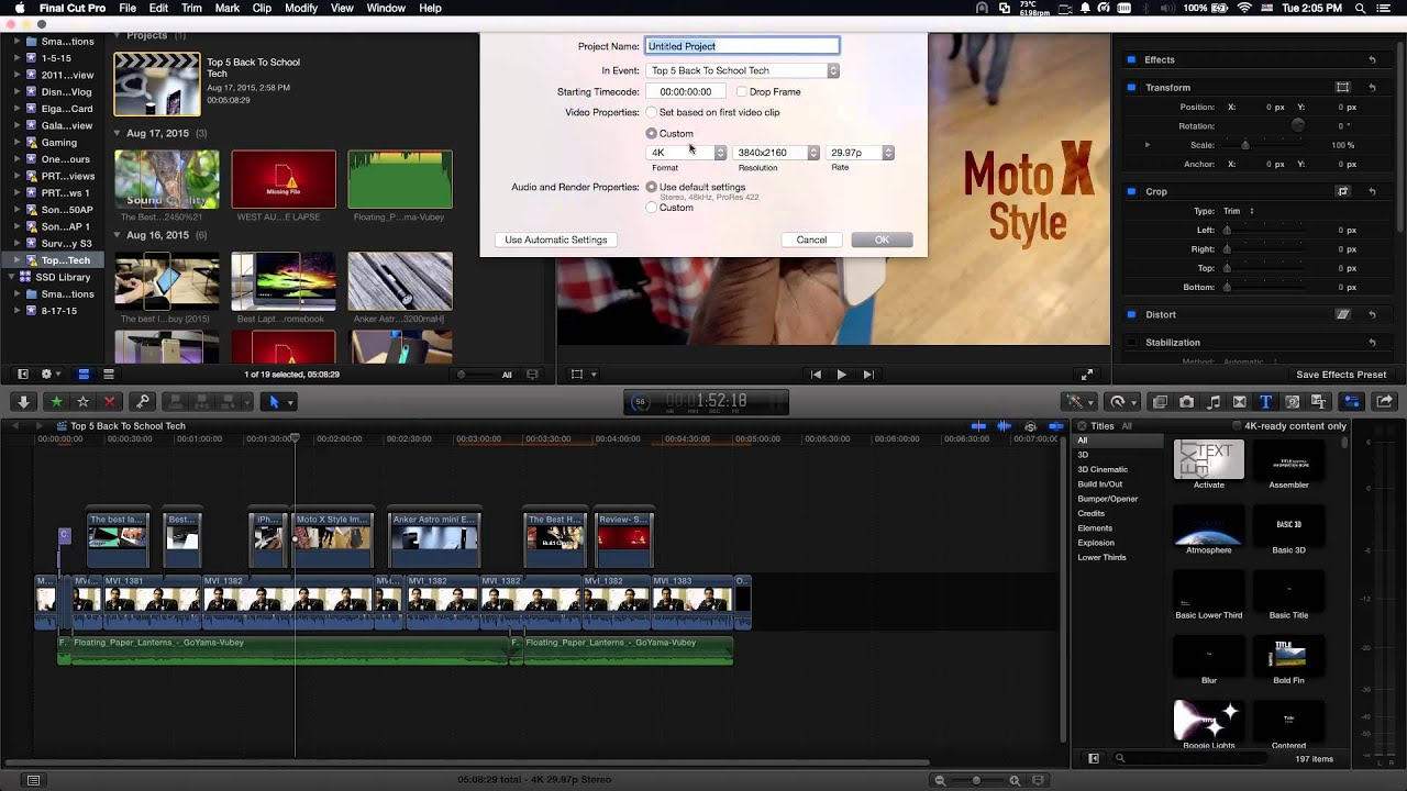 How to Upscale 1080p Footage to 4k and Why - Final Cut Pro X