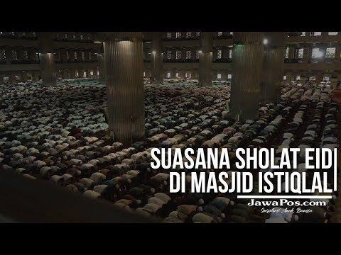 Suasana Salat Eid di Masjid Agung Istiqlal