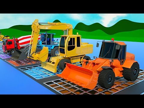 Construction Trucks for Kids with #Excavator, Dump Truck and Bulldozer