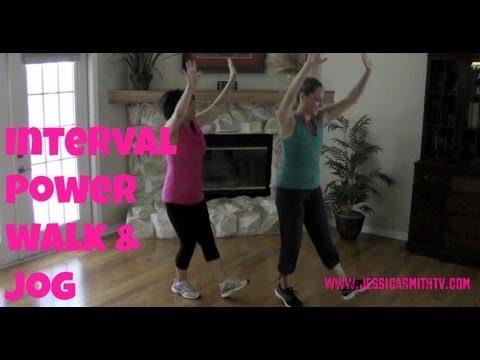 Walking Exercise Free Full Length 30-Minute Indoor Interval Walk/Jog