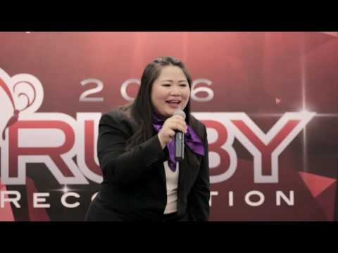 RUBY RECOGNITION 2016  SINGAPORE SHARING BY ELAINE TAN