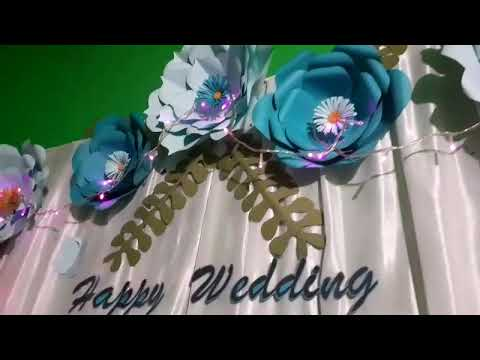 dekorasi bunga kertas sederhana tapi elegan - youtube