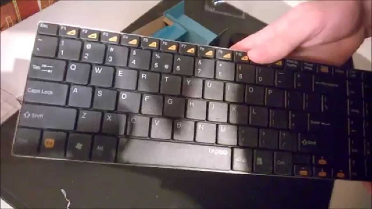 4b8c1186eb4 Rapoo 9060 Wireless Keyboard and Mouse with Nano Receiver - YouTube