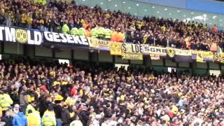 BvB Defense club flags in Man C