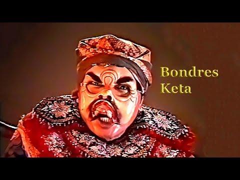 Balinese mask dance – Tari Topeng Keta (comic figure of the Bondres genre)