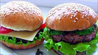 Гамбургеры в домашних условиях / Вкусные булочки для бургеров