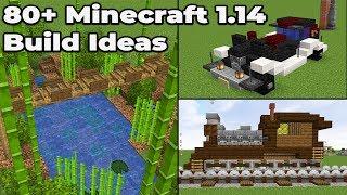 80+ MINECRAFT 1.14 Build ideas : Tips and Tricks