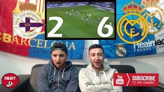 REAL MADRID EASY WIN AGAINST DEPORTIVO 2-6 - LIVE REACTION REAL MADRID FAN