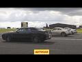 Drag race | USA v Europe v Japan | Dodge Challenger Hellcat vs Porsche 911 Turbo S vs Nissan GT-R