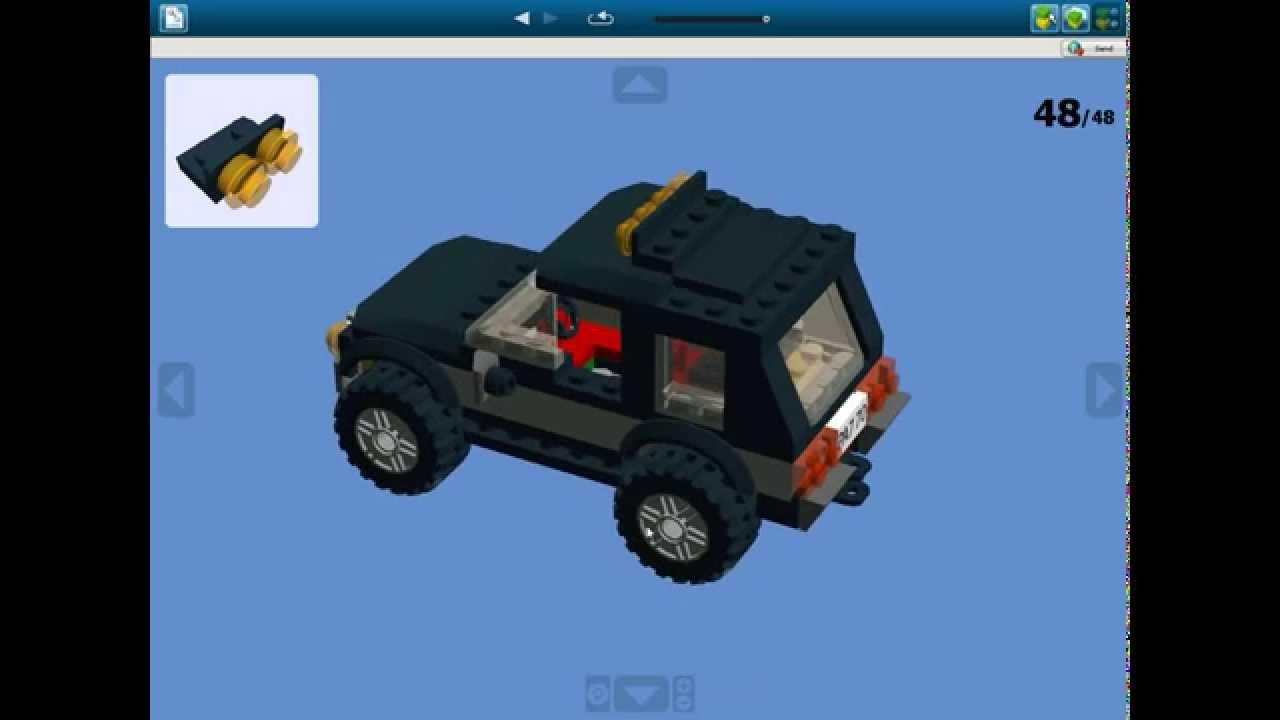 Лего машина как из сделать инструкция