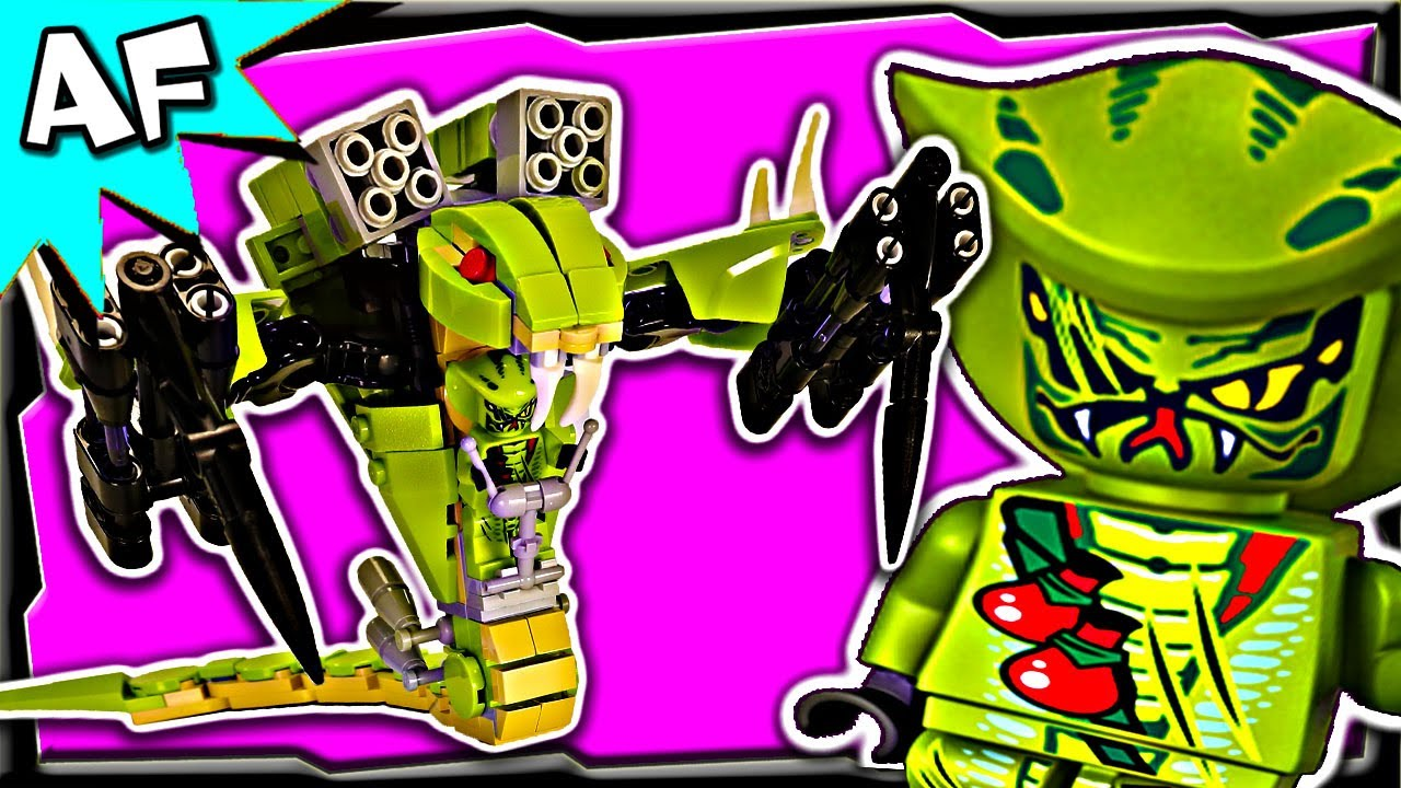 Serpentine SNAKE MECH Custom Lego Ninjago Rebooted 70500 70723 9455  Animated Building Review