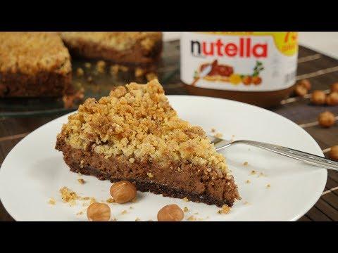 Nutella Streuselkuchen | Streuselkuchen backen | Käsekuchen mit Streuseln