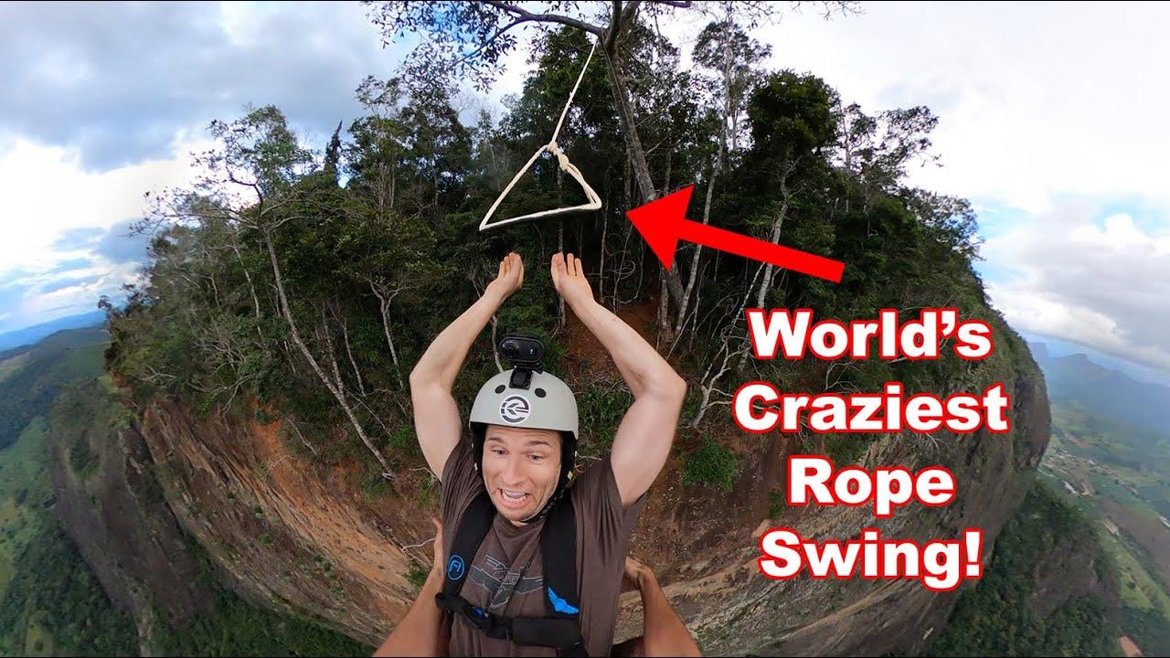 WORLD'S CRAZIEST ROPE SWING!!!