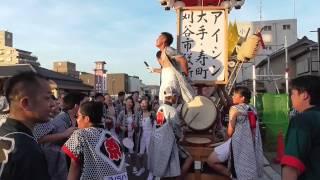 2015万燈祭 アイシン・大手寿・刈谷市役所の若衆の踊り 新栄町の交差点.