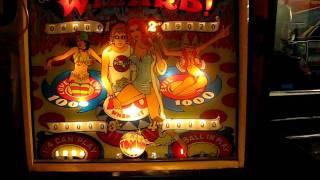 Bally Wizard Pinball machine converted into an alarm clock