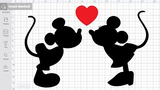Kiss Mickey Minnie Svg Free Cutting Files for Cricut Silhouette Free Download