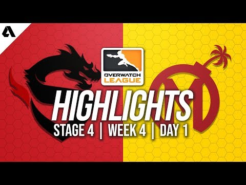 Shanghai Dragons vs Florida Mayhem | Overwatch League Highlights OWL Stage 4 Week 4 Day 1