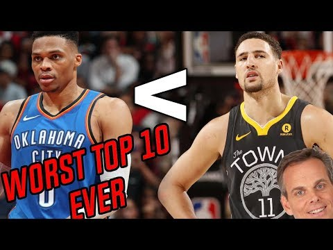 Klay Thompson Is BETTER Than Westbrook? The Worst NBA Top 10 List EVER