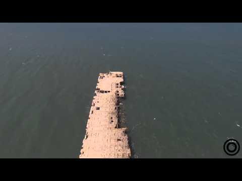 Muelle de Puerto Colombia, Atlántico. Dji Phantom 3 (drone)
