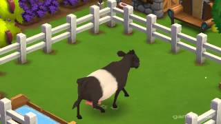 Belted Galloway Cow - FarmVille 2