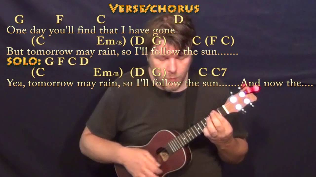 Ill Follow The Sun Beatles Ukulele Cover Lesson With Chords