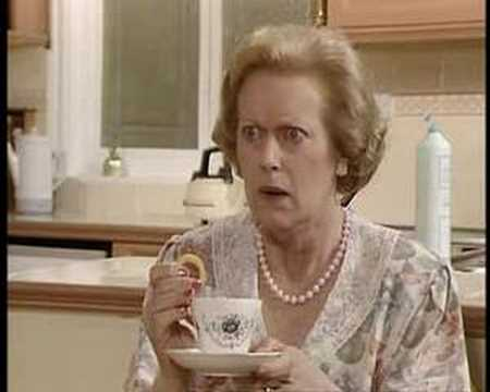 Keeping Up Appearances, tea time with Hyacinth and Elizabeth