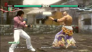 Tekken 6 Gameplay - Survival Mode Achievement - Xbox 360 - HD