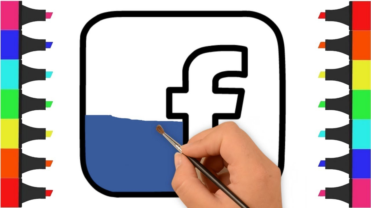 Facebook Logo Coloring Page Quick Start Guide Of Wiring Diagram Ats021 Pages For Kids How To Draw And Color Rh Youtube Com No Symbol