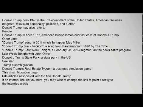 Donald Trump (disambiguation)