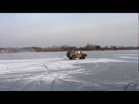 VW ILTIS FLYING ON THE ICE