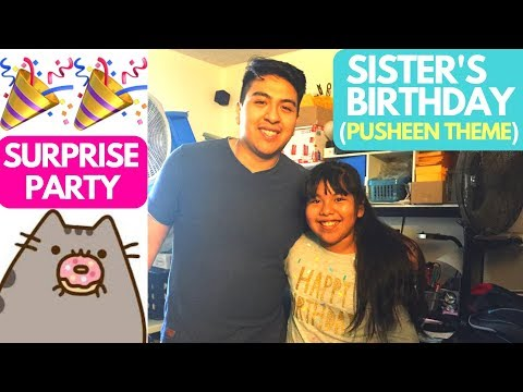 Little's Sister Birthday Surprise Party!! | Pusheen Theme