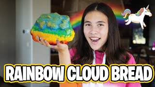 RAINBOW UNICORN CLOUD BREAD!!! TikTok Super Fluffy DIY Recipe!