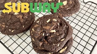 Subway Double Chocolate Chip Cookies