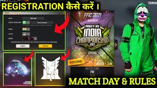 HOW TO REGISTRATION IN FFIC SEASON 6 | FREE FIRE INDIA CHAMPIONSHIP 2021 | FFIC